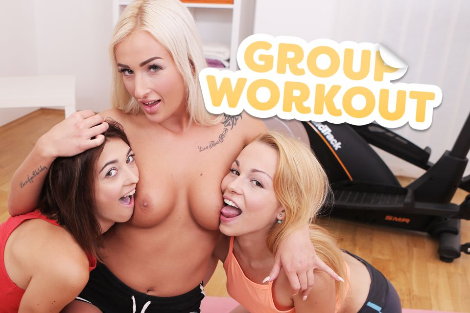 Group Workout VR Porn Video