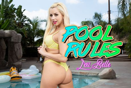 Pool Rules (Lesbian Strap-On) VR Porn Video