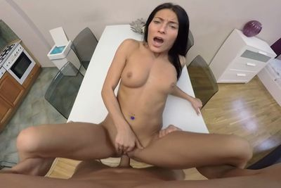 Brunette get fucked hard all seen in POV VR Porn Video