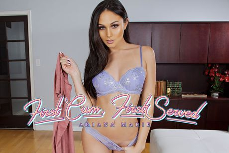 First Cum, First Served VR Porn Video