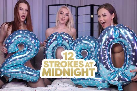 12 Strokes At Midnight VR Porn Video