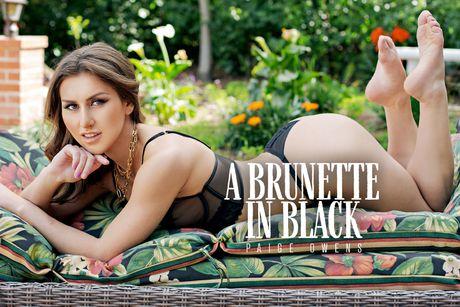 A Brunette in Black VR Porn Video
