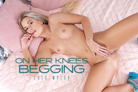On Her Knees Begging VR Porn Video