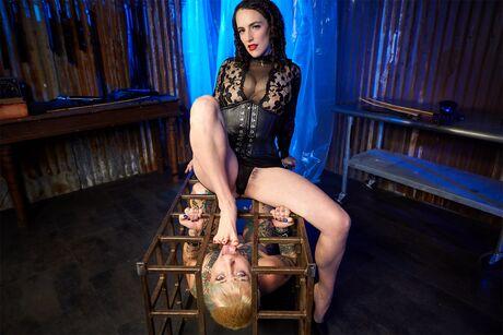 The Lezdom Cage Dominion VR Porn Video